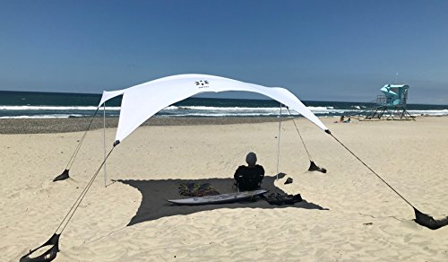 Neso Tents Grande Beach Tent, 7ft Tall, 9 x 9ft, Reinforced Corners and Cooler Pocket (White, Large)