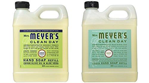 (Mrs Meyers Liquid Hand Soap Refill, 33 Oz, Lemon Verbena Scent, Pack Of 2)