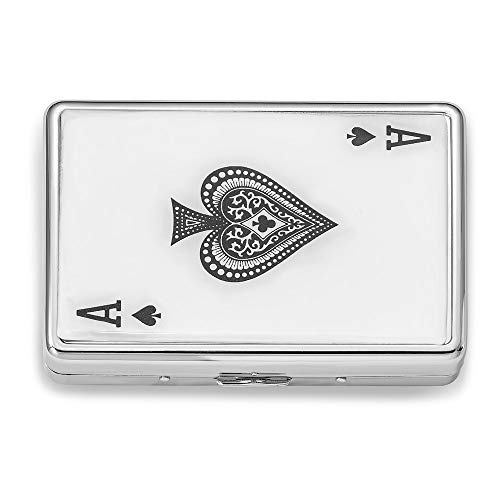 (Jewels By Lux Silver-Tone Ace Multi-Purpose Case (Holds 16 Cigarettes))