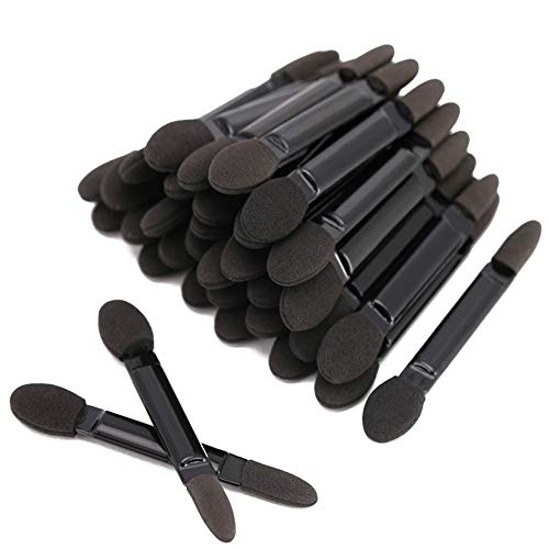 Fantasea Professional Double Head Eyeshadow Brushes Cosmetic Tool Disposable Dual Sides Eyeshadow Sponge Brushes Makeup Applicator 50 Pcs