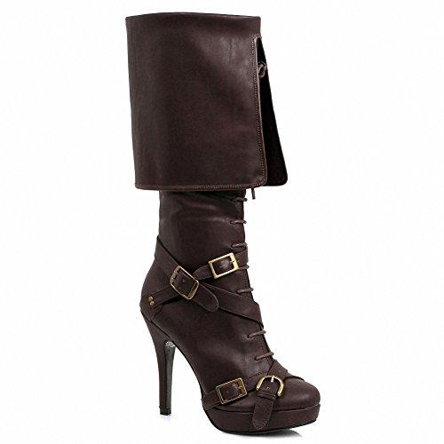 Ellie 414-keira Mujeres Sexy Comfortable 4 Knee High Bota. Mujeres Marrones