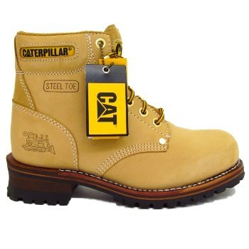 09049419d36c0a Mens Honey Tan Nubuck Caterpillar Cat Sequoia Leather Safety Steel-Toe-Cap  Work Boots: Amazon.co.uk: Shoes & Bags