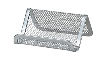 Officemax Mesh Business Card Holder Silver Amazon Office