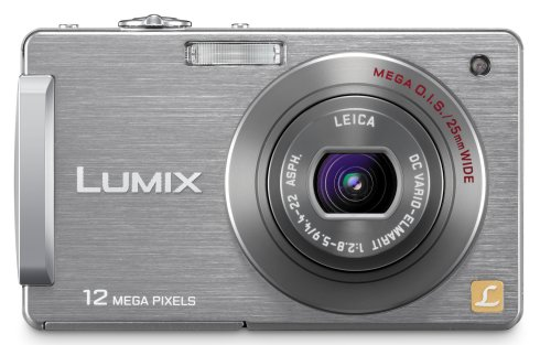 Panasonic Lumix DMC-FX580 12MP Digital Camera with 5x MEGA Optical Image Stabilized Zoom and 3 inch LCD (Silver)