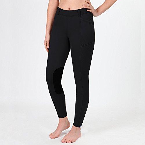 (Irideon Womens Thermasoft Knee Patch Winter Breech, Black, Medium)