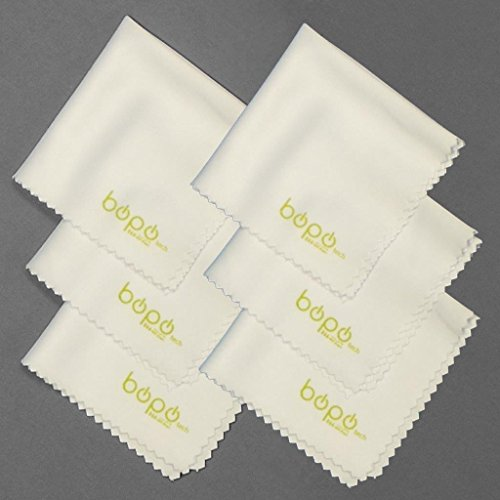 Pack of 6 BoPo Microfiber Cleaning Cloths - for Lenses, Bino