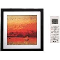 LG LMAN127HVP 24 Multi F Art Cool Gallery Mirror Wall Mount Indoor Mini Split with 11200 BTU Cooling Capacity in Titanium