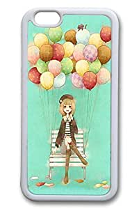 Anime Balloon Girl Slim Soft Cover for iphone 5 5s TPU White Cases