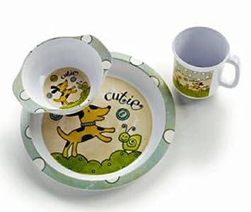 Puppy Dish Set - Baby Dinnerware Set  sc 1 st  Amazon.com & Amazon.com : Puppy Dish Set - Baby Dinnerware Set : Baby Dish For ...