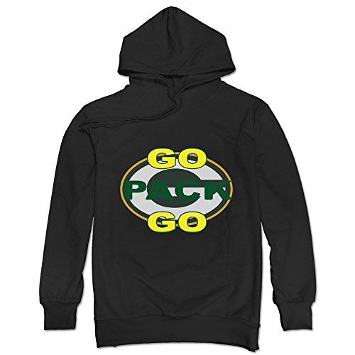 TonyGray Men's Packers Go Pack Go Hoodies Black Style