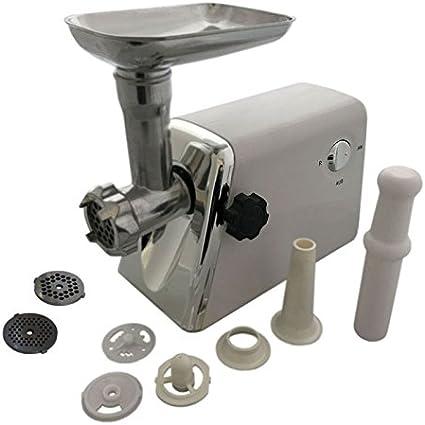 1200 W Máquina de picar carne carne picada embutir salchichas para embutir Robot de cocina con accesorios y cabezales: Amazon.es: Hogar