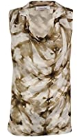 Calvin Klein Women's Cowl Marble Chiffon Top