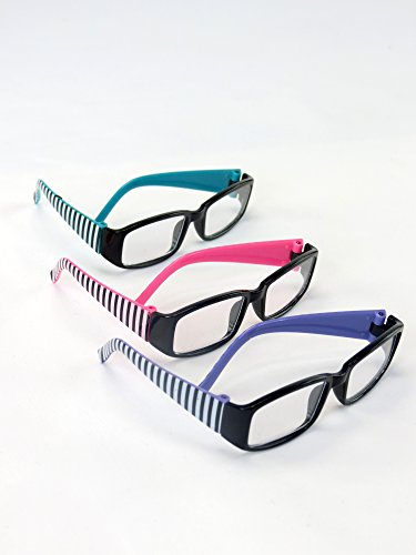 Three Pairs of Striped Glasses | Fits 18 American Girl Dolls, Madame Alexander, Our Generation, etc. | 18 Inch Doll Accessories