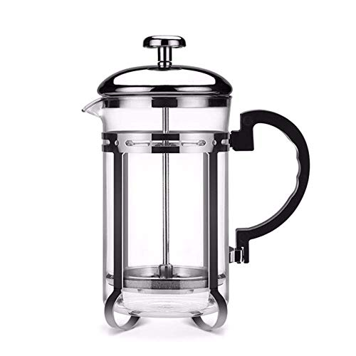 XIAOWEI 600 ml de Acero Inoxidable de Vidrio Hueco Filtro francés té cafetera Prensa émbolo cafetera Resistente al Calor…
