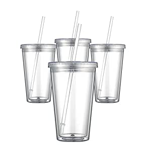 Maars Classic Insulated Tumblers 16 oz. | Double Wall Acrylic | 24 pack