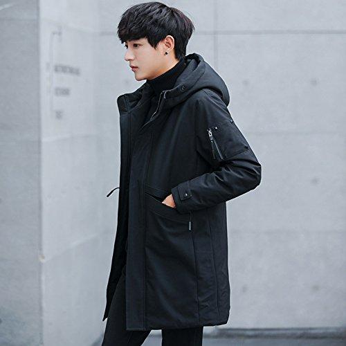 l'Uomo l'Uomo l'Uomo XXL Inverno M Abbigliamento con Mens ZHUDJ ZHUDJ ZHUDJ ZHUDJ Black Invernale Giacca Cappuccio Caldo PUnCdnWqwx