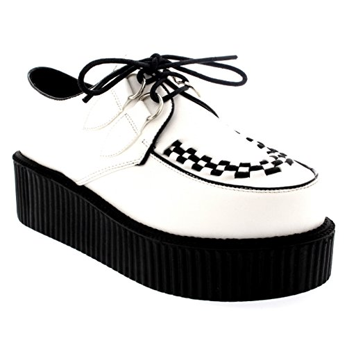 Viva Womens Double Platform Punk Goth Flatform Brothel Creepers Retro Shoes - 40 - -