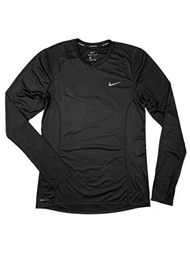 Nike Mens DF Miler Long Sleeve NFS Running Shirt Black 905290-010 Size Small