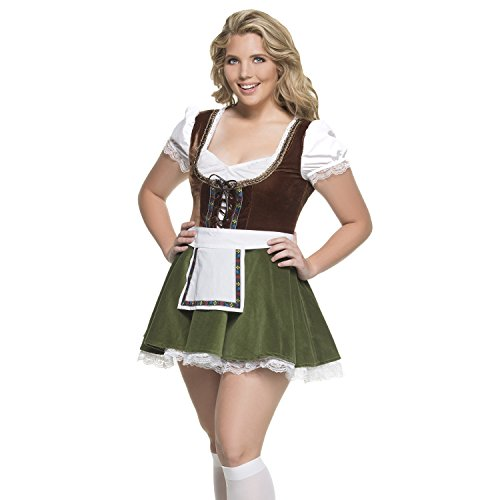 Hollywood Plus Size Costumes (Women's Plus Size Bavarian Girl Costume 2X)