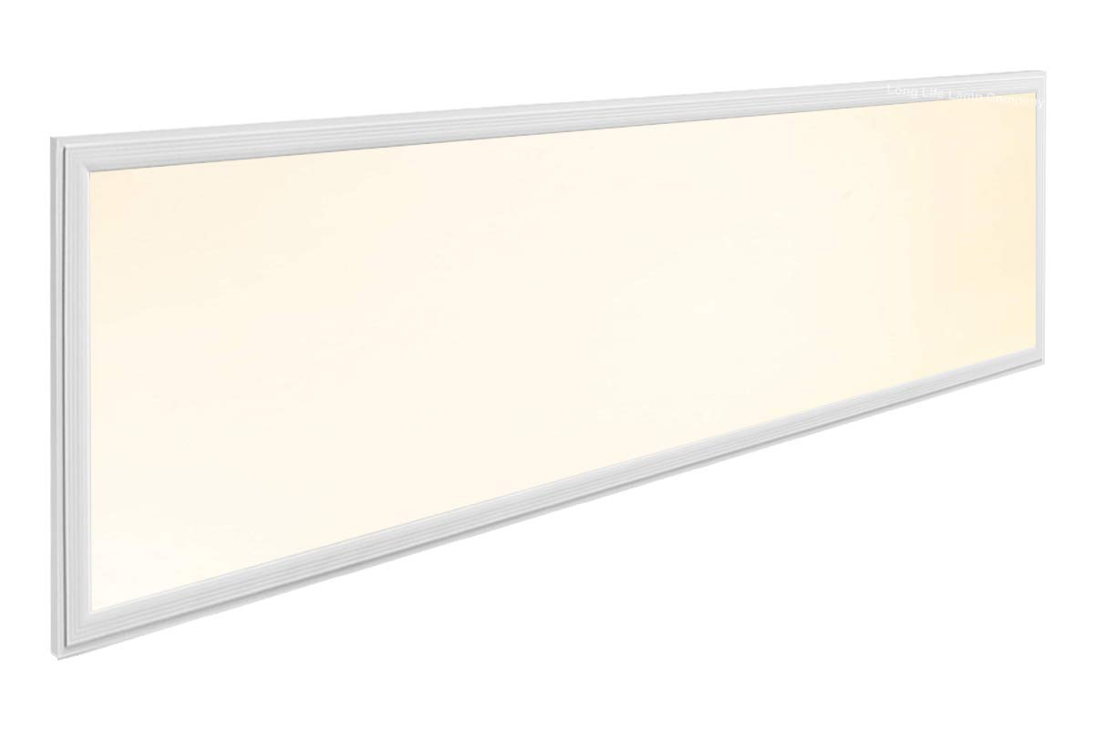 40W Warm White LED Ceiling Panel 1200 x 300 Flat Tile Panel Downlight 3500k Super Bright Premium Quality, 3 Years Warranty [Energy Class A++] Long Life Lamp Company