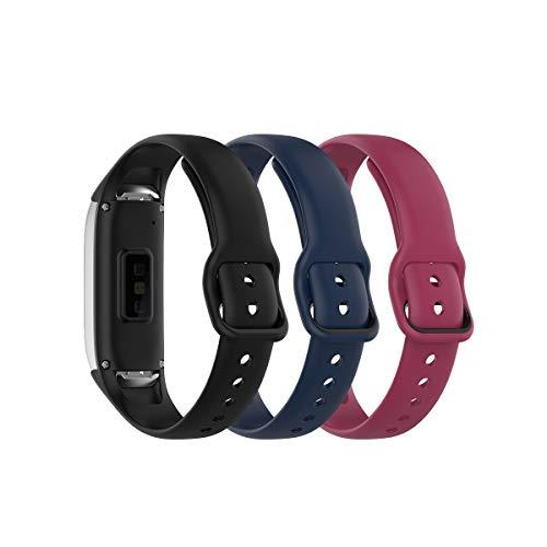 3 mallas para reloj Samsung Galaxy Fit 2019 SM-R370 silicona