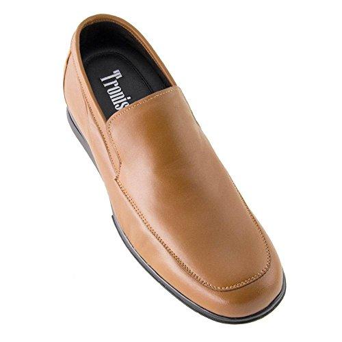 Masaltos Scarpe con Rialzo da Uomo Che Aumentano l'Altezza Fino a 7 cm. Fabbricate in Pelle. Modello Flex Nature A Marrone