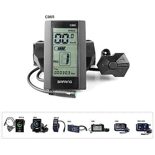 Bafang C965 Display Mid Drive Motor Electric Bike Kit for BBS01B BBS02B BBSHD Mid Motor