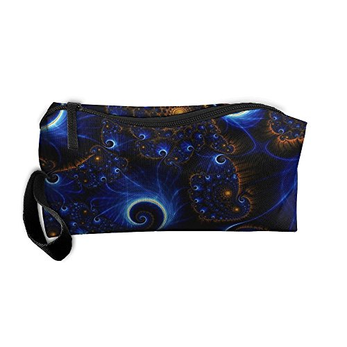 Portable Makeup Cosmetic Storage Bag Appropriate Capacity Organization Pouch With Handle Blue Art - Pa Erie Shopping In