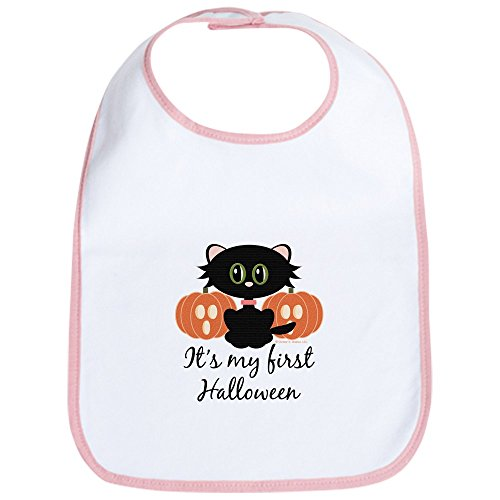 CafePress Black Cat First Halloween Bib Cute Cloth Baby Bib, Toddler Bib