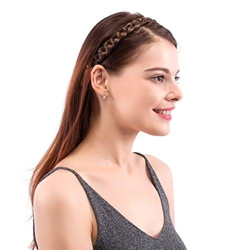 Braid Headband (MERRYLIGHT Unique Design Hair Bun Braided Headband (Medium Brown-8#))