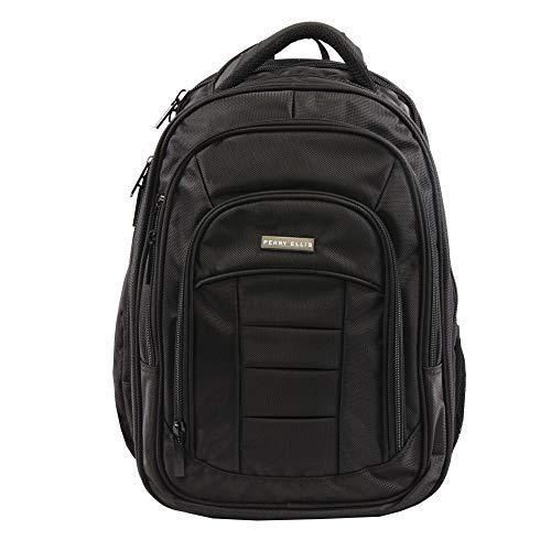 Perry Ellis Men's M150 Business Laptop Backpack, Black