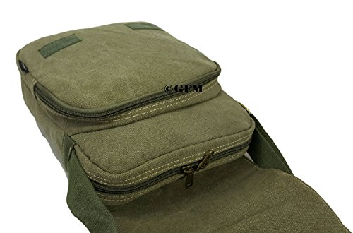 Lienzo bolso bandolera de boda de estilo clásico bolso bandolera para - School, college, Uni, oficina, viajar o para el Casual para accesorios del bebé X14KL - Black