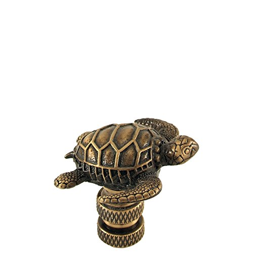 Sea Turtle Accent Lamp - Antique Brass Sea Turtle Finial Bronze1.5