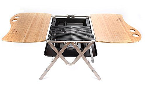ABBA.Q Patented Practical All-in-one Grill, Charcoal Tray and Table, Midium Size by ABBA.Q