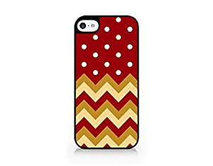 Chevron And Polka Dot Mixed Pattern - Christmas Themed Pattern - iPhone 5C Black Case