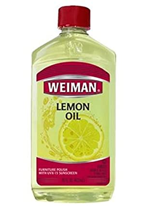 Weiman Furniture Polish Lemon Oil 16 Oz (Pack of 6) by Weiman