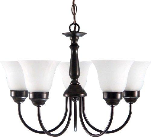 Volume Lighting V4505-83 Minster 5-light Roman bronze chandelier, 21