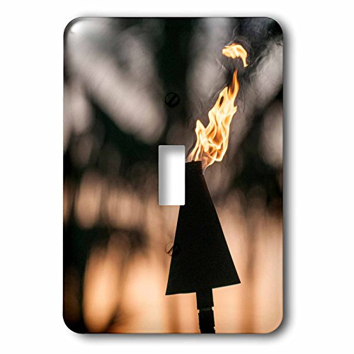 3dRose Danita Delimont - objects - Tiki torches at Sunset on Poipu beach Kauai, Hawaii. - Light Switch Covers - single toggle switch (lsp_259216_1) by 3dRose