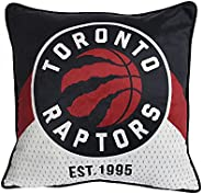 NBA Toronto Raptors Décor Pillow (18 x 18 inch) Chevron Throw Pillow for Couch, Chair or Bed, Basketball Cushi