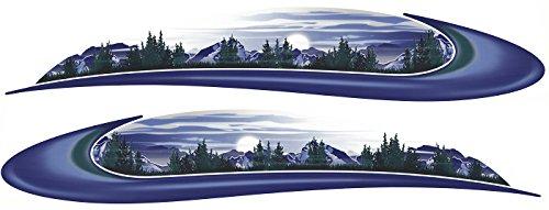 HEARTLAND 2 RV Trailer Camper Mountain Scene Graphics Decals Stripes - Rv Heartland