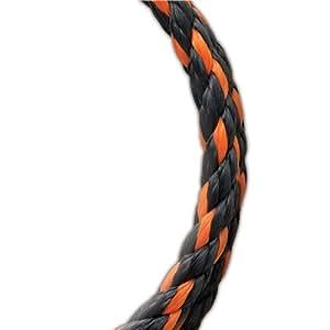 Koch Industries Twisted Polypropylene Rope, Orange/Black, 3/8 Inch by 200 Feet, 9.5 Foot Reel