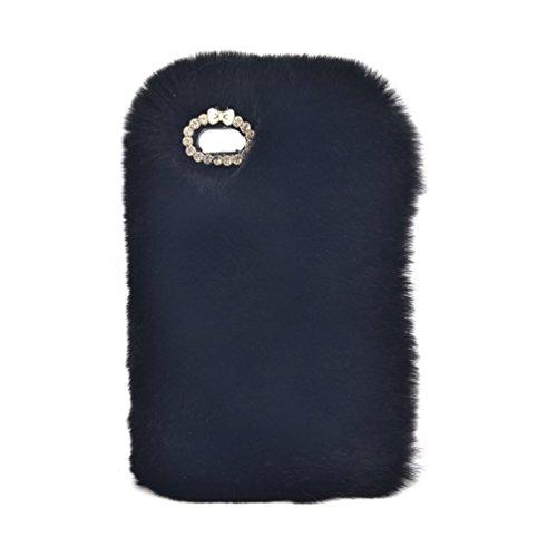 Samsung Galaxy S7 Edge 5.5'' Soft Warm Cute Case, Sammid Women Gift Luxury Stylish Bling Fluffy Cover for Samsung Galaxy S7 Edge - Black by Sammid (Image #1)