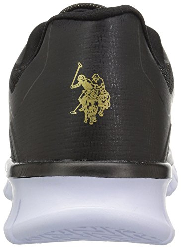 U.S. Polo Assn. Womens Womens Geena-E Oxford Black/Rose/Gold bAKTe15v
