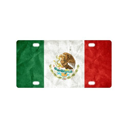 Mexico Flag License Plate with made from Aluminum-12