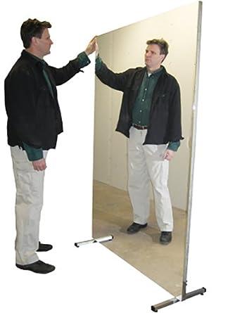 Portable Stationary 36 Width x 96 Height Fabrication Enterprises 19-1007 Glassless Mirror