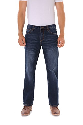 Indigo alpha Stretch Regular Classic Straight Fit Blue Stonewash Denim Jeans For Men (801-05)