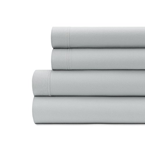 (Briarwood Home Luxury Jersey Sheet Set- Extra Soft 100% Cotton Breathable Sheets - 150 GSM Deep Pocket, Easy Fit - Comfortable & Cozy - All Season Bedding Sheets (California King, Grey))