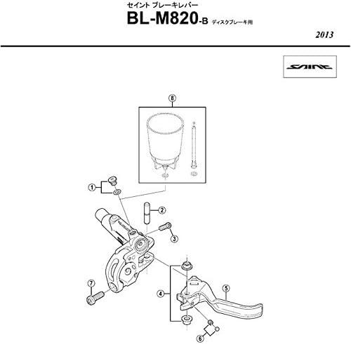 Shimano Bremsgriff Links M.griffachse Bl-M820b Saint