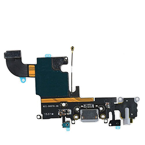 USB Charging Port Dock Connector Flex Cable + Microphone + Headphone Audio Jack Replacement Part for iPhone 6s 4.7