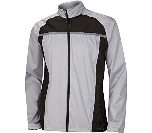 adidas Golf Men's Climastorm Essential Packable Rain Jacket, Mid Grey/Black, Medium